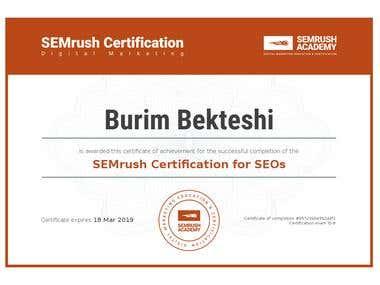 SEMrush Certification for SEOs