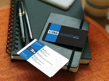 Business Card Design for Outdoor Blinds Group