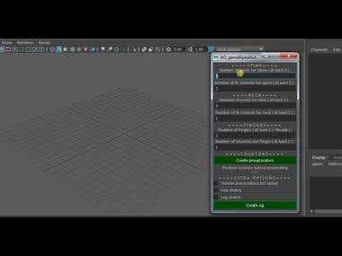 Auto rigging script for Maya
