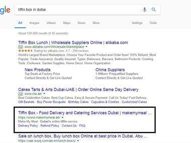 SEO service, Google serp page top