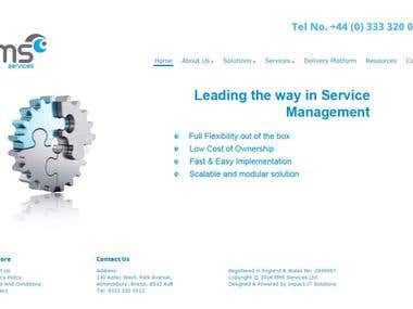 Website for RMS Services Ltd