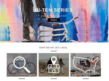 Online Cycle Store Site Development