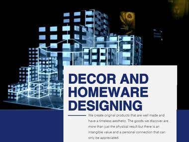 DECOR & HOMEWARE DESIGNING