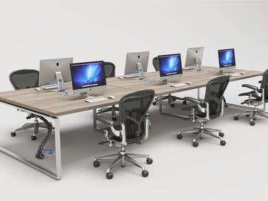 Office Furniture Renderings