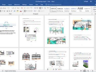 Civil Engineering Drawing Report
