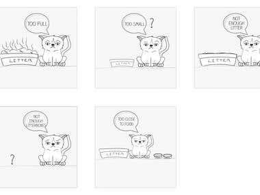 descriptive illustration for cat litter