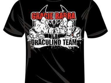 t-shirt for brazilian jiu jitsu academy