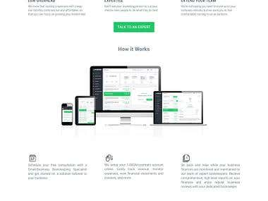 Book Keeping Website template Design