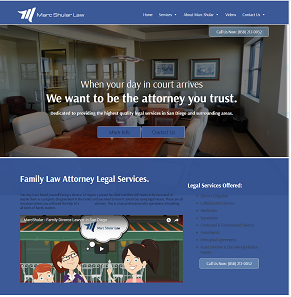 Marcshular Law Website Design and Development