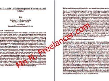 Article Writing in Bahasa Melayu