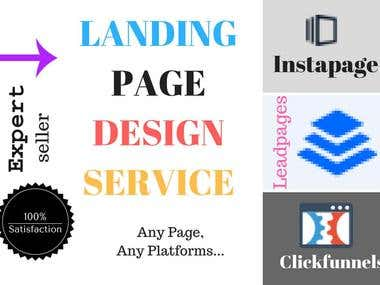 Clickfunnels Leadpages Instapage page design