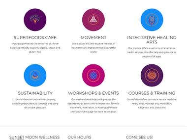 Health and Yoga site design and development