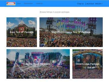 TOMORROWLAND Site in Laravel