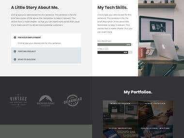 Wordpress Divi theme portfolio site