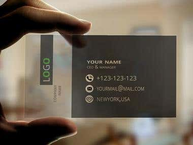 plastic/Translucent business card