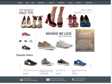 Shoes Company Website