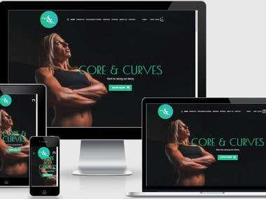 CORE & CURVES WEBSITE