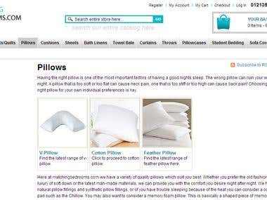Household and Bedroom items Magento Ecommerce store.