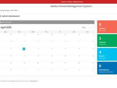 School Management Admin/Teacher/User Site