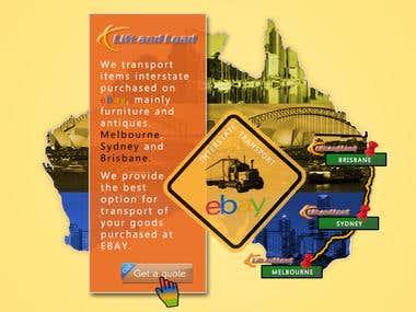 Banner for ebay Autralian transport company