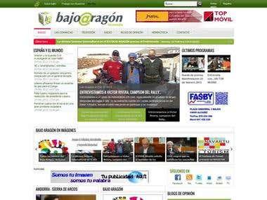 Diseño web portal Prensa
