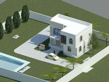 Building model & Design using Revit Architucture