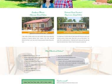 Corporate Website Cabin Rental