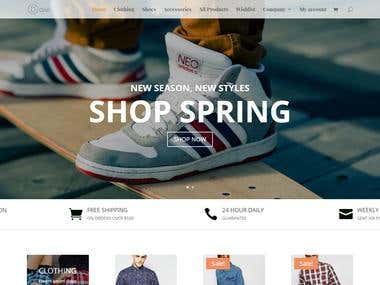 Shopping Site (Divi, Woocommerce)