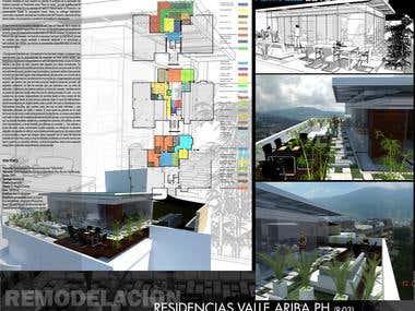 """Proyecto: Remodelación Penthouse residencias """"Valle Arriba"""