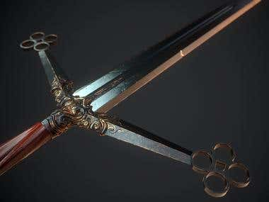 Heirloom Claymore - Real time melee weapon, Game optimized