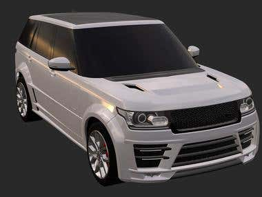 A set of tuning elements for a Range Rover