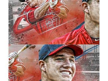 Mike Trout Poster Design