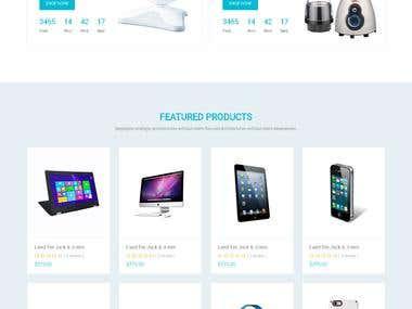 Responsive Bootstrap E-commerce website