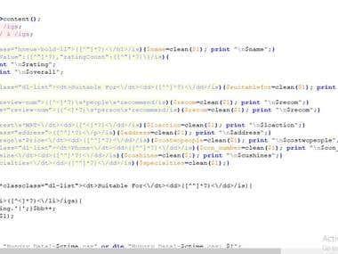 Scraping Code