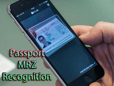 Passport MRZ Recognition APP