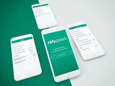 Rely Pass iOS App Design