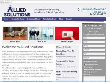 Wordpress- Online solution site