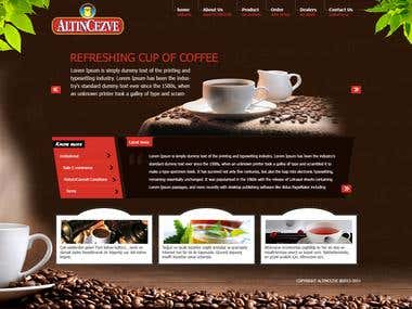 Corporate website for coffee company.
