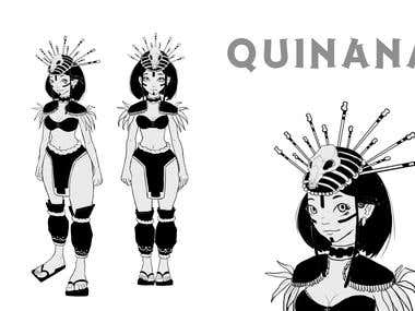 Character Design Manga Book Quinana