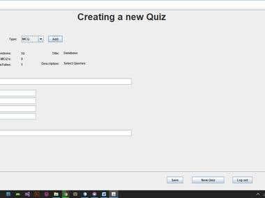 Quizzer Desktop Application