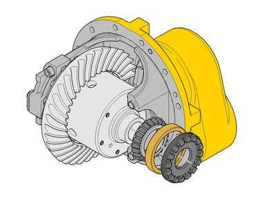 Truck Differential for truck
