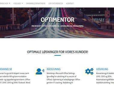 optimentor.dk Corporate website