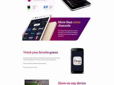 Liveplus App Landing Page