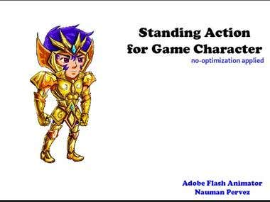 Flash Animation of Game Character Standing Animation POSE