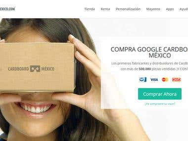 Cardboard Mexico: Wordpress Woocommerce custom design