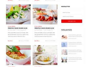 Responsive Bootstrap blog website
