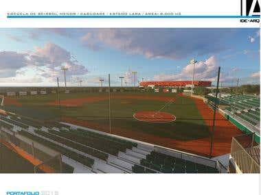 """Proyecto: Estadio de Beisbol Menor """"Metropolitano"""""""