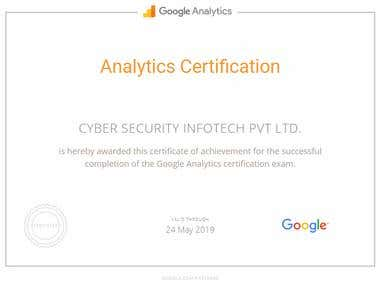 SEO google certification.