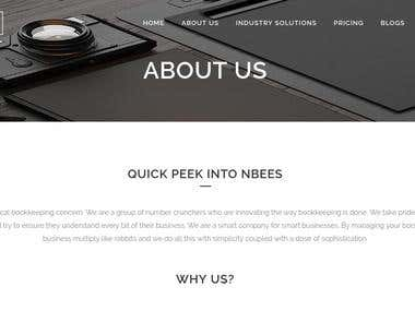 NBees Accounting WordPress website