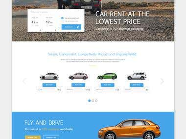 Car booking Website design